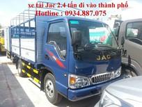 Bán xe tải Jac 2.4 tấn (2T4), thùng dài 3.7m, đi vào thành phố ban ngày