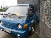 Bán xe Hyundai Porter đời 2002, màu xanh lam, xe tải trọng 1 tấn, thùng khung mui phủ bạt