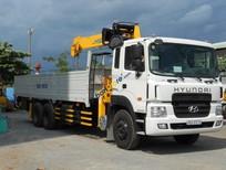 Xe tải Hyundai, Daewoo gắn cẩu tự hành 3 tấn, 5-7 tấn, 8-10 tấn, 12-15 tấn Soosan, tanado, Kanglim, Unic, màu trắng, nhập khẩu nguyên chiếc