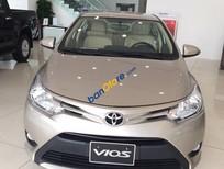 Bán Toyota Vios 1.5G đời 2017 màu vàng cát, giá 550 triệu