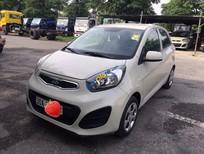 Cần bán lại xe Kia Morning 1.25 năm 2014, màu kem (be) số sàn, 270tr