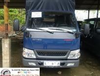 xe tải 2.3 tấn,2.3t,2.4 tấn thùng mui bạt iz49 an giang, máy nhật, bảo hành 3 năm