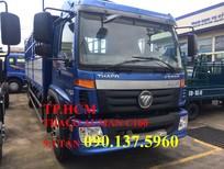 TP. HCM - Thaco Auman C160 xe 9T3, màu xanh, thùng mui bạt tôn đen
