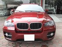 BMW X6 Model 2009. Màu đỏ nội thất kem đăng ký chính chủ cá nhân biển Hà Nội