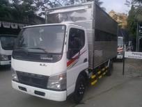 Xe tải Mitsubishi Fuso Canter 4.7T thùng kín, mui bạc, xe có sẵn giá tốt nhất