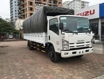 Cần bán xe tải Isuzu 5.5 tấn thùng bạt, Isuzu 5T5 thùng kín trả góp, màu trắng giá cạnh tranh