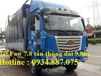 Đại lý bán xe tải Faw 7.8 tấn - 7t8 nhập khẩu thùng siêu dài 9.8 mét