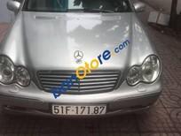 Bán Mercedes C200 sản xuất 2003, màu bạc, giá tốt