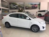 Xe Mitsubishi Attrage số tự động giá tốt, bán xe Mitsubishi Attrage AT màu trắng, giao xe nhanh