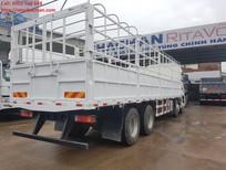 Cần bán xe tải thùng Shacman 4 chân tải trọng 18 tấn, màu xanh nhập khẩu nguyên chiếc đời 2017