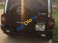 Bán ô tô Ssangyong Korando đời 2000, màu đen