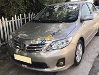 Bán xe Toyota Corolla Altis 1.8MT 2013 tự động vàng cát, odo chuẩn 8 vạn