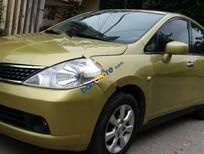 Cần bán lại xe Nissan Tiida 1.8AT sản xuất 2007, màu vàng, nhập khẩu Nhật Bản