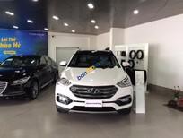 Cần bán xe Hyundai Santa Fe CRDI sản xuất năm 2017, màu trắng, giá tốt