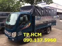 TP. HCM Thaco Ollin 350 2.4 tấn phiên bản thùng dài thùng mui bạt tôn đen, màu xám, giá 301tr