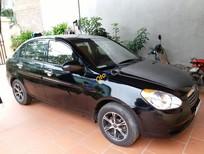 Cần bán lại xe Hyundai Verna 1.4 MT đời 2009, màu đen, nhập khẩu nguyên chiếc xe gia đình, giá 320tr