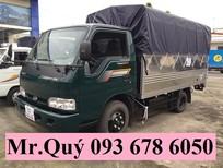 Xe tải Kia K165 thùng mui bạt mới 2,4 tấn