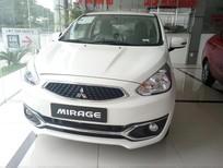 Bán xe Mitsubishi Mirage CVT 2017, màu trắng, xe nhập, có bán trả góp liên hệ 0906.884.030