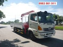 Xe tải cẩu HINO - tải 4,6 tấn - thùng dài 6,2m - cẩu Unic 3 tấn 4 khúc