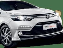 Cần bán Toyota Vios 1.5 E số tự đông 2017, màu đen, hỗ trợ trả góp lên tới 90%