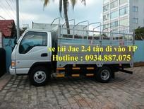 bán xe tải 2.4 tấn Jac 2t4 (2T4) đi vào thành phố thùng dài 3.75m