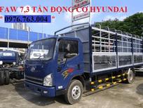 bán xe tải faw 7 tấn 3 máy huyndai giá rẻ/ faw 7 tấn 3 thùng dài 6m2 giá rẻ .