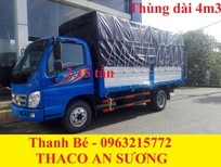 Thaco Ollin 360 tải 2 tấn 4, thùng dài 4m3, đời 2017, hỗ trợ trả góp 75%