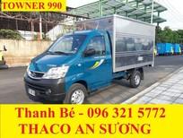 Thaco Towner 990 thùng kín tải trọng 990kg, đời 2017, hỗ trợ trả góp 75%, chỉ từ 80 triệu