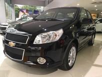 Cần bán xe Chevrolet Aveo LT 2017, màu đen giảm mạnh 40 triệu trong năm