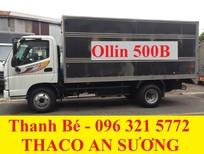 Bán Thaco Ollin 198A/500B tải trọng 1 tấn 98 / 5 tấn, đời 2017, hỗ trợ trả góp 75%