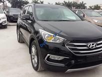 Bán Hyundai Santa Fe năm sản xuất 2017, màu đen, giá tốt
