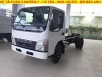 Bán xe 1t9 Mitsubishi Fuso Canter 4.7, hỗ trợ vay ngân hàng 80%
