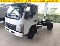 Xe tải Fuso Canter 4.7 thùng dài 4m3 tải trọng 1t9. Xe giao nhanh, hỗ trợ vay 80%