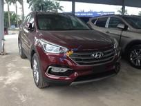 Hyundai Santa Fe full xăng 2.2 đời 2018, màu đỏ, giao xe ngay