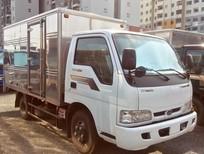 Xe tải Kia K165 màu trắng thùng kín tải trọng 2,4 tấn Thaco, bảo hành 2 năm