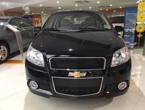 Bán Chevrolet Aveo LT năm 2017, màu đen, giá tốt