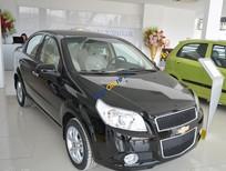 Bán Chevrolet Aveo 1.5LT màu đen, xe mới hỗ trợ ngân hàng 80%