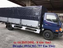 xe tải hd120sl / hd120sl8 tấn thùng dai 6m3 hỗ trợ trả góp 90%
