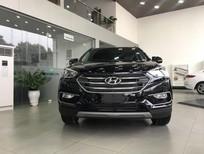 Bán xe Hyundai SantaFe 2.2L đời 2018, màu đen, giá có thương lượng