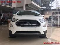 Bán ô tô Ford EcoSport Titanium màu trắng đời 2018, Ford Hà Thành cần bán xe ford ecosport màu trắng trả góp giá tốt