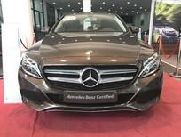 Bán xe Mercedes C200 đời 2017, màu nâu, như mới, còn bảo hành chính hãng, giá rẻ