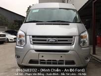 Bán ô tô Ford Transit Tiêu chuẩn 2018, màu bạc ánh kim, hỗ trợ trả góp và hoàn thiện lăn bánh