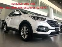 Bán xe Hyundai Santa Fe sản xuất 2018, màu trắng, nhập khẩu chính hãng