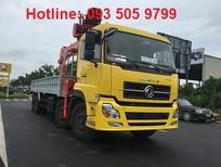 Bán xe tải 4 chân DONGFENG gắn cẩu tự hành 12 tấn Soosan, Tanado, Kanglim, Unic, Atom 2017-2018