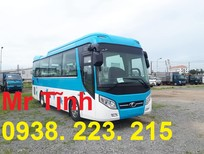 Bán xe 29 chỗ bầu hơi Weichai Thaco Tb85 Euro4 mới nhất 2018