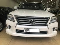 Bán Lexus LX570 Mỹ màu Trắng nội thất Kem xe sản xuất cuối 2013 đăng ký 2014 biển Hà Nội,