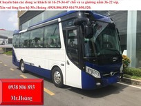 Giá xe khách 29 chỗ thaco TB85S phiên bản bầu hơi 2018