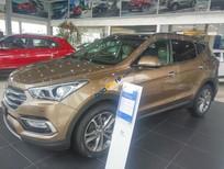 Cần bán xe Hyundai Santa Fe CRDI 4WD sản xuất 2018, màu nâu