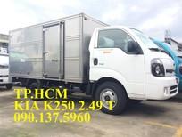 TP. HCM bán Thaco Kia K250 mới thùng kín, tải trọng 2.49 tấn, thùng kín inox 304