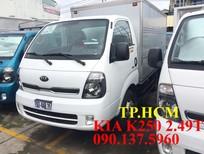 TP. HCM bán Thaco Kia K250 mới, xe vào thành phố, thùng mui bạt inox 304